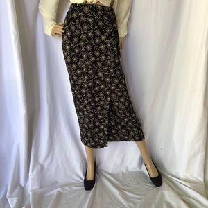 VINTAGE | Midi wrap straight skirt